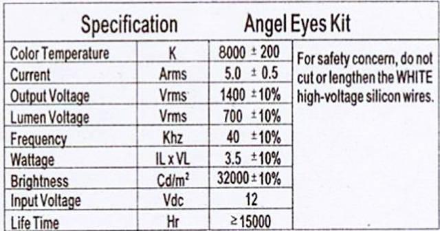 ангельские глазки CCFL
