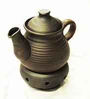 Чайник керамічний з пічкою-підсвічником