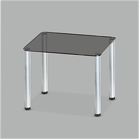 Стеклянный обеденный стол MONO P mini G/MET