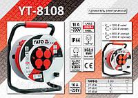 Удлинитель электрический на катушке 3х2,5мм - 50м., YATO YT-8108
