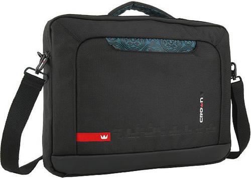 "Удобная, практичная сумка для ноутбука до 15,6"" Crown Hymn CCH-1115 черная, коричневая"