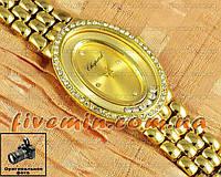 Женские наручные часы Chopard Quartz Steel Dimond All Gold fashion с камнями кварцеве Япония качество