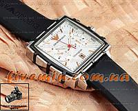 Мужские наручные часы Emporio Armani Chronograph Ruber Gold White механика с автоподзаводом качественная копия