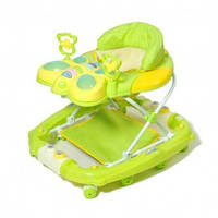Ходунки baby-tilly 2268 GREEN с качалкой Бабочка