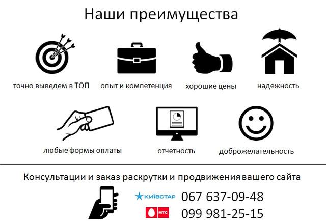 Продвижение раскрутка seo сайтов интернет магазинов