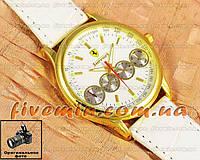 Женские наручные часы Ferrari Quartz Maranello Chronograph Gold Black кварцевые модный стиль