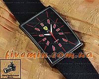 Мужские наручные часы Ferrari Quartz Ruber Black Red кварцевые модный стиль