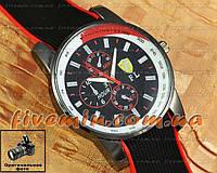 Мужские наручные часы Ferrari Quartz Ruber Tachymeter Red кварцевые модный стиль