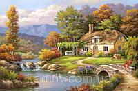 Живопись по номерам 40 × 50 см. Уютный дом у реки Художник - Сунг Ким.