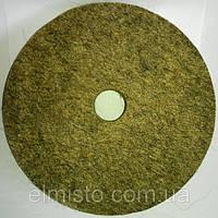 Круг войлочный c отверстием 100 х 22 х 20 грубошерстный мягкий полировальный на шлифовальный станок