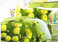 Семейное постельное белье - Желтый сад -Поплин фирмы Вилюта