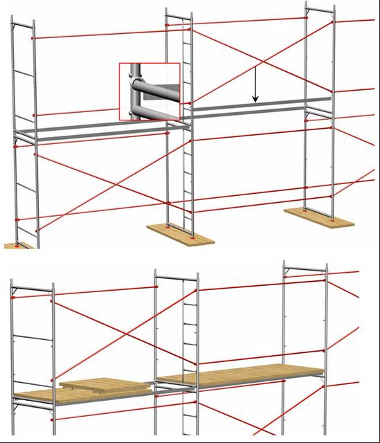 Монтаж и демонтаж лесов строительных серии ЛРСП
