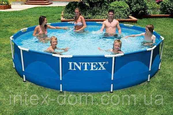 intex metal frame pool 56994 366 76. Black Bedroom Furniture Sets. Home Design Ideas
