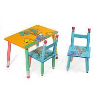 """Стол и 2 стула   """"Джунгли"""" оранжевый"""