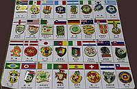 Набор значков футбольных сборных Чемпионата Мира 2010
