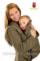 Демисезонная куртка-жилетка для беременных (хаки)