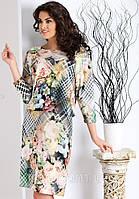 Женское платье свободного кроя со стильным принтом и рукавом 3/4. Модель Martina Top-Bis.