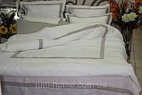 Постельное белье из льна в евро размере + 6 наволочек
