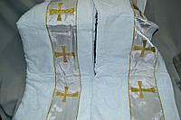 Полотенце банное Gulcan для крещения ребенка - крыжма (Махра 100% хлопок) 70х140 - Турция krug-02