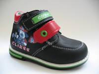 Ортопедические ботиночки для мальчишек ТМ Clibee (Румыния) 21р. маломерят!