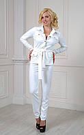 Белый брючный костюм Кэтрин