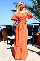 Длинное платье / вышитый коттон / Украина (2 цвета)