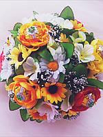 Подарочный букет из конфет ручной работы  Полевые Цветы