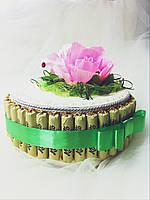 Подарочный букет из конфет ручной работы Нежность