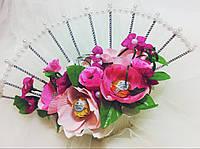 Подарочный букет из конфет ручной работы Цветы Сакуры