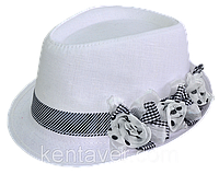 Шляпа челентанка с цветами