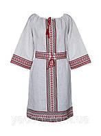 Платье в народном деревенском украинском стиле. Коттон Кантри Украина