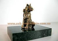 Оригинальный сувенир, бронзовая фигурка Кошка