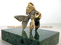 Изящный сувенир, бронзовая фигурка Рыбка