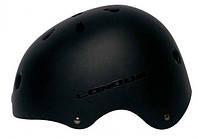 Велосипедный шлем (велошлем, шлем для велосипеда) LONGUS BMX размер L-XL, 58-61 см. (цвет: черный)