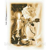 Схема для вышивки бисером Свеча и Роза