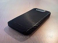 Декоративная защитная пленка для телефона Nokia E72 карбон черный