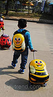 Детский дорожный чемодан на колесах Пчелка