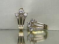 Серьги серебряные с кубическим цирконием
