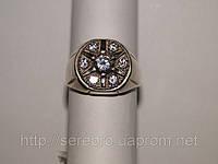 Кольцо из серебра с кубическим цирконом