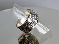Кольцо широкое с узором из серебра