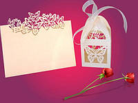 Карточка на свадебный стол Бабочки, 10шт