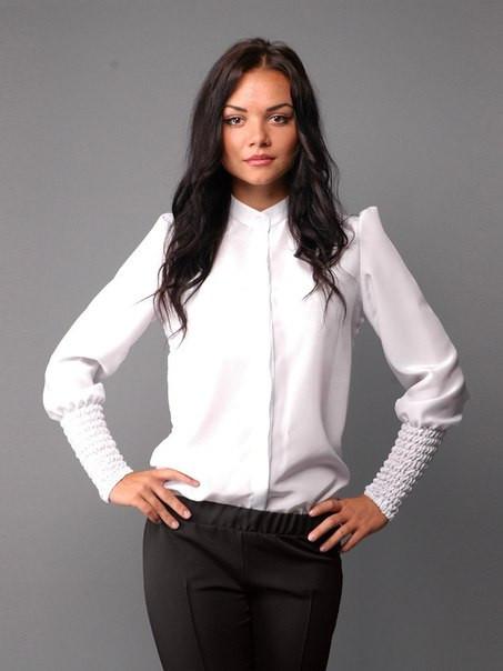 Белая Блузка Цветной Жилет