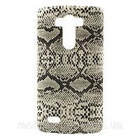 """Чехол накладка пластиковый на LG G3 D850 D855 , """"Белая змея"""""""