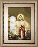 """Набор для вышивки крестом """"Иисус стучащийся в дверь"""""""