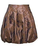 Юбка Баллон для девочки. Размер 122-128. Коричневый