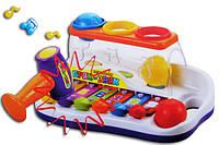 """Детская музыкальная игрушка JOY TOY 9199 """"Ксилофон Бряк-Звяк с молоточком"""""""
