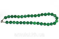 Бусы из зеленого нефрита