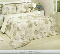 Бежевый комплект постельного белья из поликоттона от Le Vele