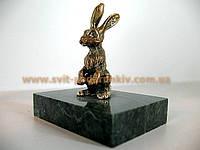 Статуэтка бронзовый Заяц, оригинальный сувенир