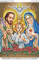 Схема для вышивки бисером икона Святое Семейство